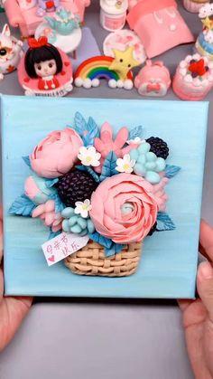 Polymer Clay Kunst, Cute Polymer Clay, Cute Clay, Polymer Clay Flowers, Polymer Clay Crafts, Diy Clay, Diy Crafts Hacks, Diy And Crafts, Paper Crafts