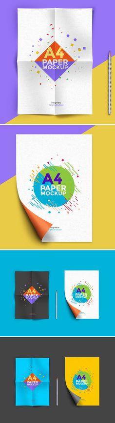 Free A4 Paper Mockup PSD (24.1 MB) | Graphics Fuel | #free #photoshop #mockup #psd #a4 #paper