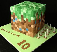 Minecraft cake - top with figures
