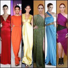 """A """"Rainbow Flag"""" of NIKOLAKI gowns"""
