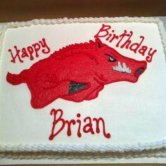 Razorback birthday cake, go hogs go!
