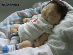 Baby dolls By Sock Dolls, Felt Dolls, Doll Toys, Doll Crafts, Diy Doll, Doll Patterns Free, Homemade Dolls, Silicone Baby Dolls, Bebe Baby