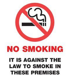 No Smoking Card Design
