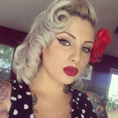 Blonde Pin Up Hairstyle
