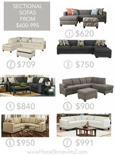 List of online resources for 25 affordable sectional sofas. Inexpensive sectional sofas that are stylish and affordable.