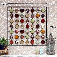 metalen kunst aan de muur muur decor, abstracte kleur kunstkring muur decor – EUR € 98.99