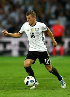 Toni Kroos of Germany in action during the UEFA EURO 2016 Group C match between Germany and Ukraine at Stade Pierre-Mauroy on June 12, 2016 in Lille, France.