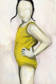 Yellow Beach Girl by kikiandpolly on Etsy