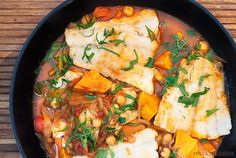 Spiced Roasted Eggplant Shakshuka - paprika, cumin, parsley & coriander roasted eggplant in a warming tomato sauce, baked eggs and crumbled feta. Roast Eggplant, Dinner Options, Quick Dinner Recipes, Roasted Sweet Potatoes, Fish And Seafood, Recipe Collection, Fresh Herbs, Spicy, Vegetarian