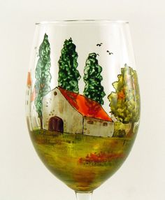 Hand painted glasses. Village Provencal Collection.