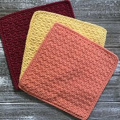 Ravelry: Spread the Dishcloth Joy pattern free crochet dishcloth pattern on Ravelry Crochet Home, Knit Or Crochet, Crochet Gifts, Crochet Stitches, Free Crochet, Crochet Slippers, Irish Crochet, Stitch Patterns, Knitting Patterns