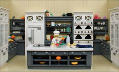 A LEGO kitchen fit for a cookbook cover