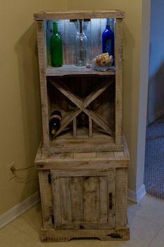 Pallet Wine Rack | recycled oak pallet wine rack | DIY furniture ideas