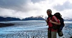 Me hiking in Torres del Paine - at the Grey Glacier