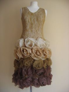 Rose nuno felted dress
