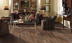 The Noblesse Heathered Walnut luxury vinyl tile from Mohawk - very sumptuous.