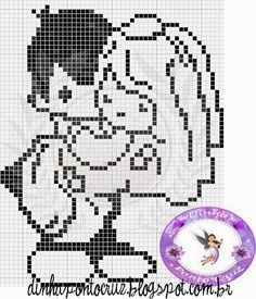 Wedding perler bead pattern