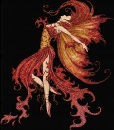 Fire Fairy Counted Cross Stitch Kit Designs in Thread Free P P | eBay