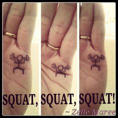 Fitness Motivation : A little fitness humour! Funny Tattoos, Cute Tattoos, Hand Tattoos, Tatoos, Really Funny Memes, Stupid Funny Memes, Funny Texts, Squat Motivation, Fit Girl Motivation