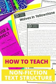 Are your students struggling with figuring out nonfiction text structure? In this post there are 4 great tips for helping students determine text structure in nonfiction text. Find out how to effectively use anchor charts, reading passages, task cards and more to introduces, teach & review nonfiction text structure in upper elementary! These reading teaching tips are perfect for 3rd grade, 4th grade & 5th grade. Teaching 5th Grade, 5th Grade Reading, Help Teaching, Teaching Reading, Guided Reading, Reading Resources, Reading Strategies, Reading Passages, Reading Comprehension