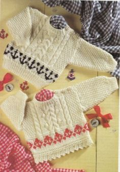 Double knitted fairisle and cable. .
