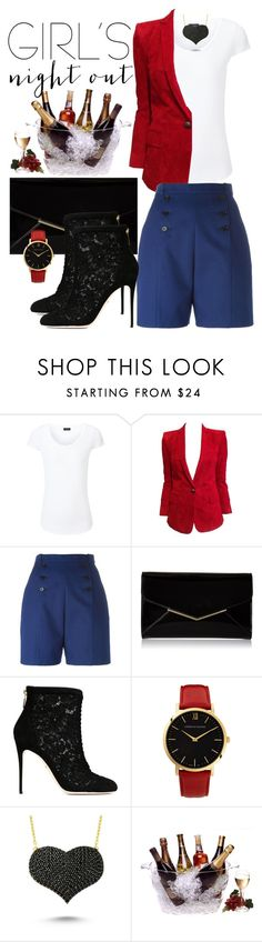"""""""Out with the Girls!"""" by say-dhax ❤ liked on Polyvore featuring Joseph, Balmain, Carven, Furla, Dolce&Gabbana, Larsson & Jennings, Amorium, Prodyne, women's clothing and women"""