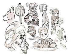 Hey there! Here's the completed sketches for a sketching session I just recorded! Here's a link to the youtube video: I plan on recording more often! Let me know what you think! I hope you like it!