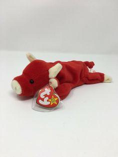 TY Beanie Buddy - MWMTs Stuffed Animal Toy 14 inch SNORT the Bull