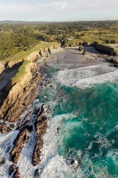 Hidden Beach in Mendocino County, California