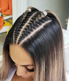 Cornrow hairstyles for black women Braided Hairstyles black Cornrow Hairstyles Women Cool Braid Hairstyles, Easy Hairstyles For Long Hair, Baddie Hairstyles, Braids For Long Hair, Athletic Hairstyles, Hairstyles Pictures, Braids Into Ponytail, Braided Hairstyles For Short Hair, Braids For Girls