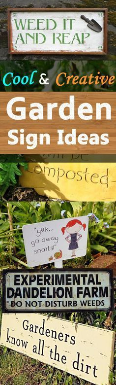 Garden signs and quotes can be a great addition to any garden and if you're searching for garden sign ideas for inspiration, look at these.