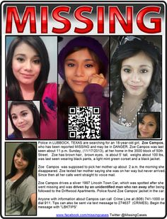 Please Keep Sharing Still ‪#‎MISSING‬: KIDNAPPED $5,000 REWARD Zoe Campos ‪#‎LUBBOCK‬ ‪#‎TEXAS‬ ‪#‎TX‬ 11/17/2013 Retweet at https://twitter.com/MissingCases/status/416271457526628352