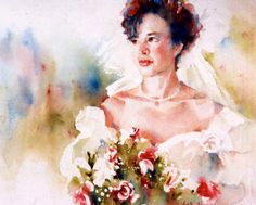 Bridal Portrait  Commissioned Original by VickiNorrisArt on Etsy, $1800.00