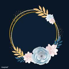 Flower Background Wallpaper, Flower Backgrounds, Flower Circle, Flower Frame, Logo Online Shop, Frame Template, Templates, Snapchat Stickers, Instagram Frame