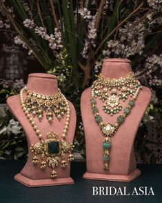 Indian Jewelry Earrings, Indian Wedding Jewelry, Royal Jewelry, Beaded Jewelry, Indian Bridal, Trendy Jewelry, Fashion Jewelry, Necklace Designs, Beautiful Necklaces