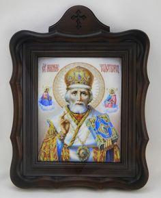 Saint Nicholas The Wonder Maker - icon Russian Icons, Saint Nicholas, Catalog, Saints, Frame, Artwork, Santos, Work Of Art, A Frame