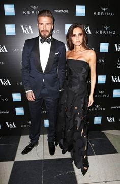 Pin for Later: There Was Definitely Some Savage Beauty on Show at the V&A Last Night David and Victoria Beckham
