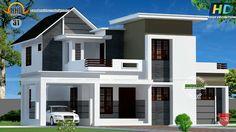 Resultado de imagen para parking roof design in single floor kerala house House Outer Design, Duplex House Plans, Bungalow House Design, House Front Design, Roof Design, Modern House Plans, Small House Plans, Modern House Design, Modern Houses