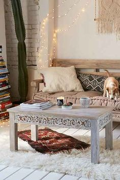 Plum & Bow Rashmi Carved Coffee Table - Urban Outfitters ($298)