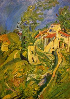 soutine paintings | Chaim Soutine, Landscape, c 1922-1923