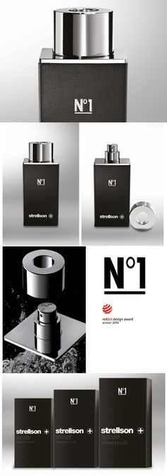 Strellson Fragrance for men. The award winning bottle design with magnetic cap was created by Christian Vonder heide
