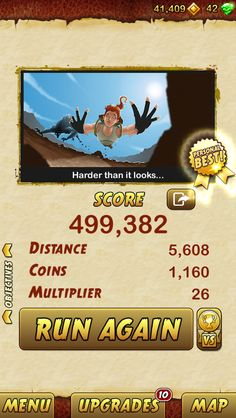 I got 499382 points while escaping from a Giant Demon Monkey. Beat that! http://bitly.com/TempleRun2iOS