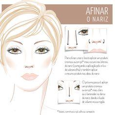 Make, coisa e tal - Notícia: Como corrigir o formato do nariz com maquiagem: levantar, alongar e afinar.