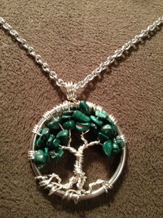 Petite Malachite Tree of Life Handmade Jewelry by Just4FunDesign, $22.00
