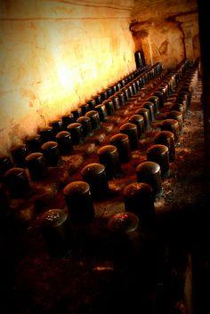 Rows of Linga. Thanjavur Temple.
