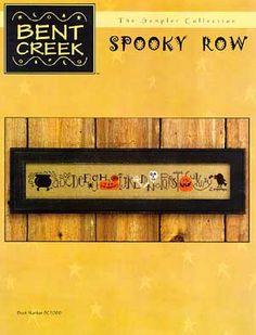 bent creek cross stitch | Bent Creek Spooky Row - Cross Stitch Pattern - 123Stitch.com