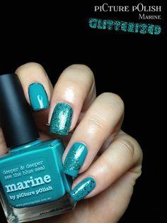 piCture pOlish Marine glitterized! feat. Sea Jewel & Ariel's Tale   Fashion Polish