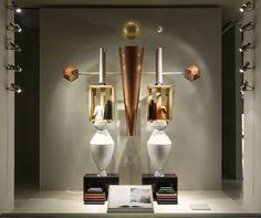 Designer Fotis Evans' conceptual store windows for Hermès, New York Window Display Design, Shop Window Displays, Hermes, Somerset, New York City Shopping, Evans, Fashion Wallpaper, Wallpaper Magazine, Store Windows