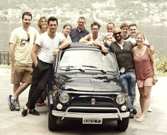 David Gandy with the crew of the Marks and Spencer Photoshoot