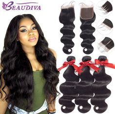Joedir Hair Brazilian Straight 2 3 4 Human Hair Bundles With 360 Lace Frontal Closures For Black Women Can Be Made Short Wigs Refreshing And Beneficial To The Eyes 3/4 Bundles With Closure Hair Extensions & Wigs